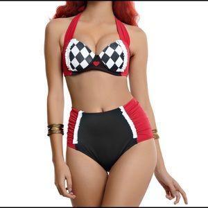 DISNEY ♥️Alice in Wonderland/Harley Quinn swimwear